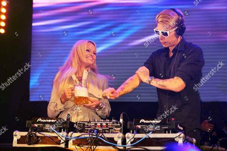 Pamela Anderson and DJ Florian Wess