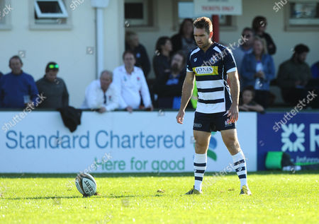 Bristol Rugby replacement Adrian Jarvis kicks a conversion
