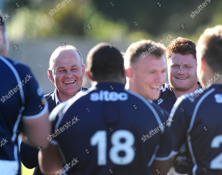Stock Picture of Bristol Rugby Director of Rugby Andy Robinson and Bristol Players congratulate Bristol Rugby Inside Centre Nick Carpenter after the game on his debut
