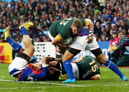 Jean de Villiers of South Africa during the IRB Rugby World Cup 2015 Pool B match between South Africa and Samoa played at Villa Park, Birmingham