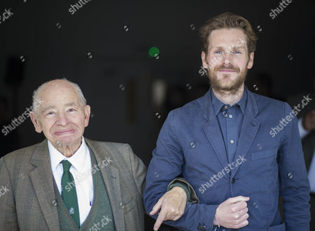 "Stock Photo of Actor Shaun Evans who plays the part of detective Endeavour in the tv Series '"" Endeavour "" with writer Colin Dexter the creator of the hit series Morse."