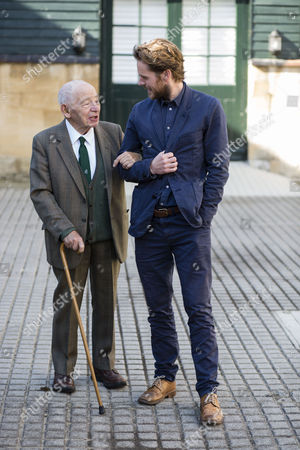 "Actor Shaun Evans who plays the part of detective Endeavour in the tv Series '"" Endeavour "" with writer Colin Dexter the creator of the hit series Morse."