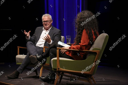 Stock Picture of Andrew Bovell with host Tanya Seghatchian
