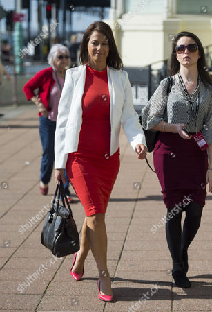 Stock Picture of Gloria Del Piero MP (left) arriving on Day one of the 2015 Labour Party Conference
