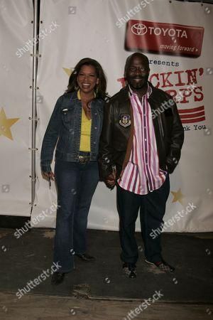 Rolanda Watts and Randy Jackson