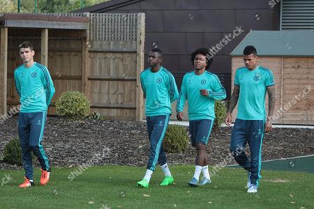 Oscar, Ramires, Willian and Kenedy