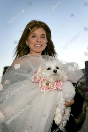 Marjorie Andrade with her dog Lilli.
