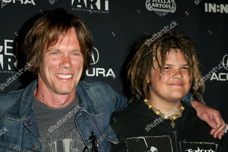 Kevin Bacon with son Travis