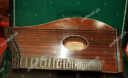The zither used by Anton Karas to play the music for the film The Third Man it is now on display at The Third Man Film Museum