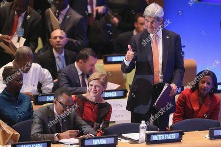 John Kerry, Susan Rice, Samantha Power and Paul Kagame