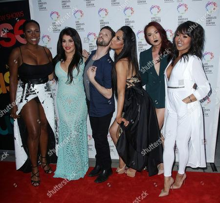 Danny Pintauro with LA, Bambi, Bionka, Nya, Xristina
