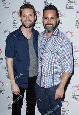 Stock Picture of Danny Pintauro with partner Wil Tabares