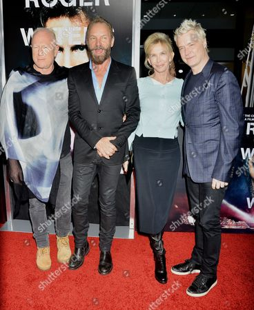 Stock Image of Bobby Sager, Sting, Trudie Styler and Chris Botti