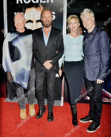 Stock Photo of Bobby Sager, Sting, Trudie Styler and Chris Botti