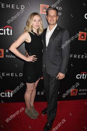 Josh Charles (R) and wife Sophie Flack