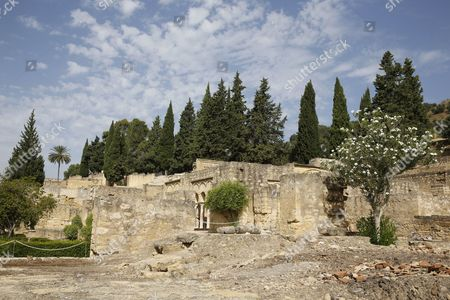 Medina Azahara or AlZahra is the ruins of a vast, fortified Arab Muslim medieval palace-city built by Abd-ar-Rahman III al-Nasir, and located on the western outskirts of Cordoba, Spain.