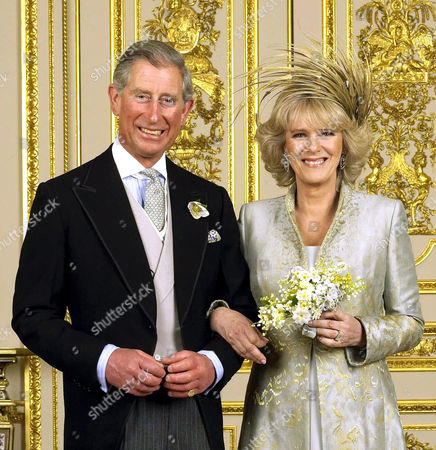 Prince Charles and Camilla Duchess of Cornwall in the White Drawing Room at Windsor Castle