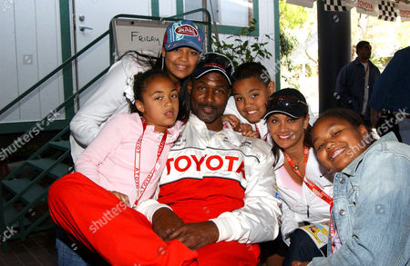 Karl Malone and family