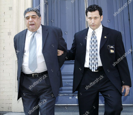 Editorial image of VINCENT PASTORE AFTER TURNING HIMSELF IN FOR ASSAULTING HIS GIRLFRIEND AT THE FIFTH POLICE PRECINCT, NEW YORK, AMERICA - 05 APR 2005