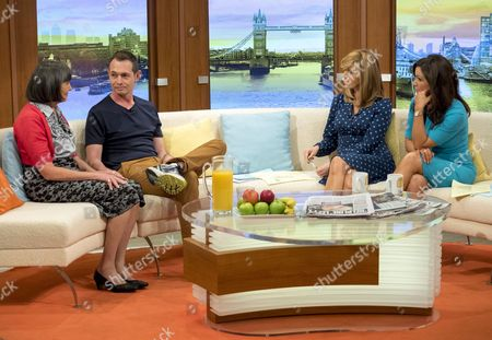 Ann Lowery and son Gary Collins with Kate Garraway and Susanna Reid