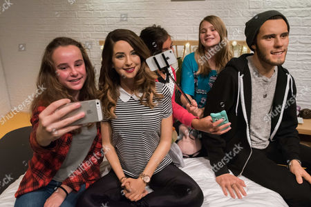 Fans with Zoe Sugg, Alfie Deyes wax figures