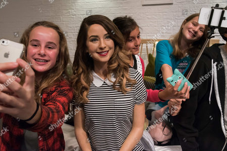 Fans with Zoe Sugg wax figure