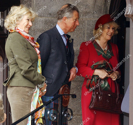 Annabel Elliott, sister of Camilla, Prince Charles and Camilla, Duchess of Cornwall arriving at Crathie Church for Sunday service opposite Balmoral at the start of their honeymoon at Birkhall