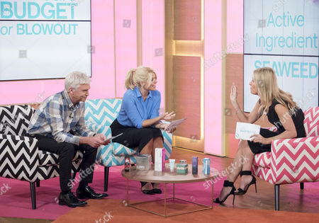 Phillip Schofield and Holly Willoughby with Nadine Baggott
