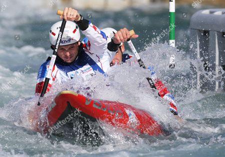 Great Britain's Mark PROCTOR (Front ) and Etienne STOTT Canoe Double ( C2 ) Men Semi-Final Photo by Kieran Galvin