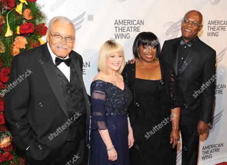James Earl Jones, Cecilia Hart. LaTanya Richardson and Samuel L. Jackson