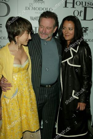 Robin Williams and wife Marsha Garces Williams with daughter Zel