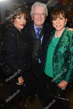 Dame Joan Collins, Leslie Bricusse and wife Eve Bricusse
