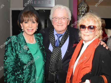 Leslie Bricusse, wife Eve Bricusse and Petula Clark