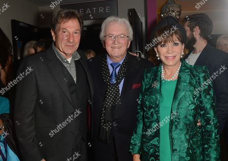 Michael Brandon, Leslie Bricusse and wife Evie Bricusse