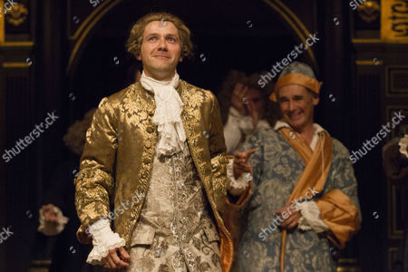 Iestyn Davies (Castrato) and Mark Rylance (Phillipe V) during the curtain call