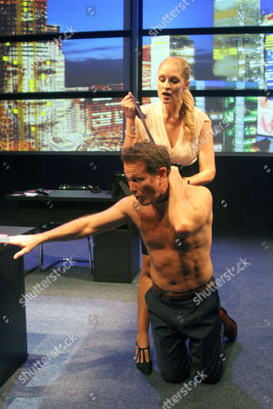 Stock Photo of Lesley Harcourt as Jess and Nick Moran as Donny