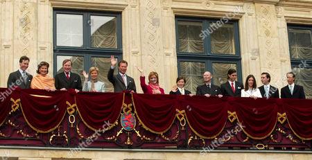 Prince Guillaume, Princess Margaretha, Prince Jean, Archduchess Marie Astrid, Grand Duke Henri, Grand Duchess Maria Teresa, Prince Sebastien, Prince Felix, Princess Alexandra, Crown Prince Guillaume and Prince Louis