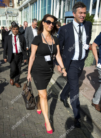 Stock Photo of Gloria Del Piero arriving at the Brighton Centre