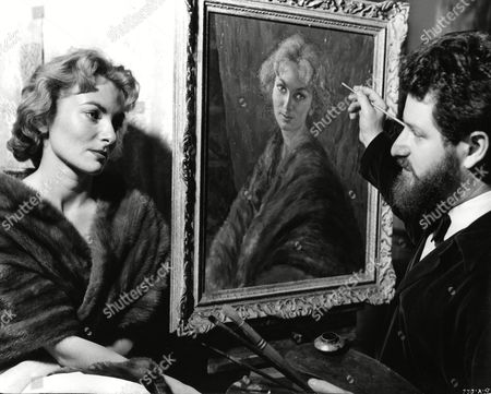 Delphi Lawrence with artist Nicholas Egon