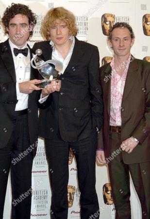 Stephen Mangan, Julian Rhind Tutt and Karl Theobald