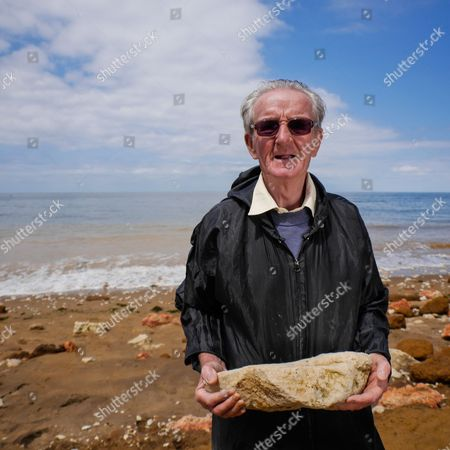 Michael Kennedy, 73, from Hunstanton in Norfolk, who spends two hours every day, except Saturdays, moving rocks to build a seawall