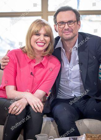 Christian Slater with Sarah Powell
