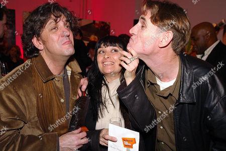 Giorgio Locatelli with wife Plaxy and John Reardon