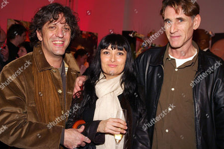 Giogio Locatelli with wife Plaxy and John Reardon