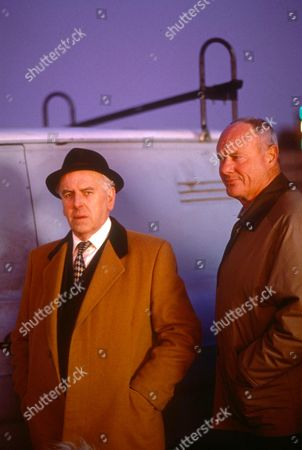 GEORGE COLE AND GLYNN EDWARDS IN 'MINDER' - 1990'S