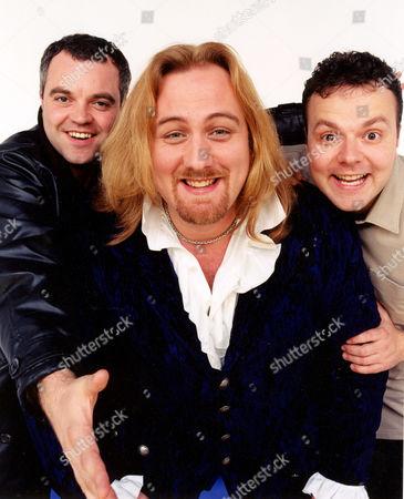 MITCHELL ANDERSON, MITCH BENN AND HAL CRUTTENDEN IN 'THE WAREHOUSE IN EDINBURGH'-1999