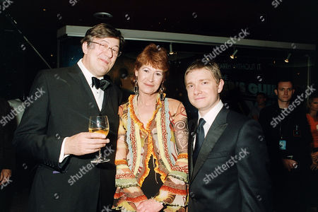 Stock Image of Stephen Fry, Jane Belson and Martin Freeman