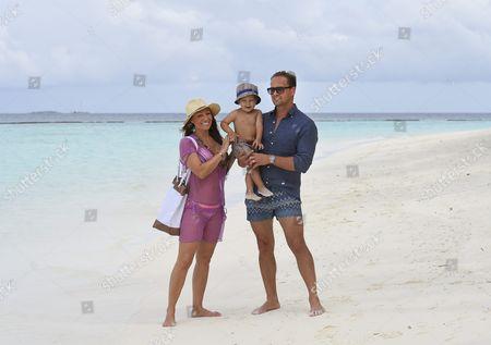 Charlotte Perrelli, Adrian Romeo Perrelli-Jensen and Anders Jensen