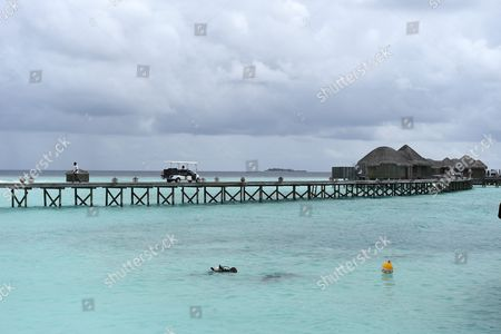 Stock Picture of Luxury resort Constance Halaveli in the Maldives