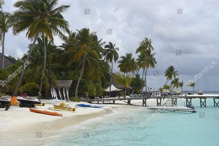 Stock Photo of Luxury resort Constance Halaveli in the Maldives